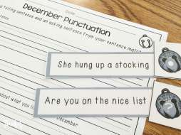 Christmas centers- punctuation sort