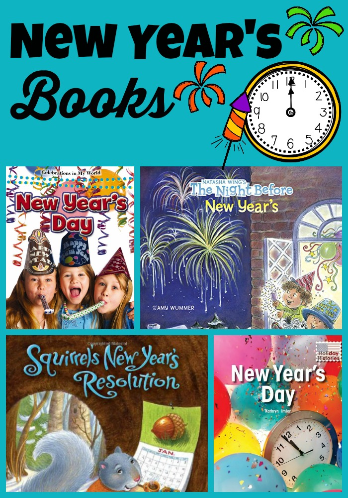 new year's books Collage