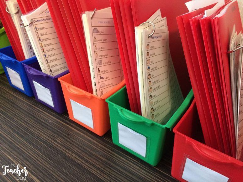 color coded writing folders