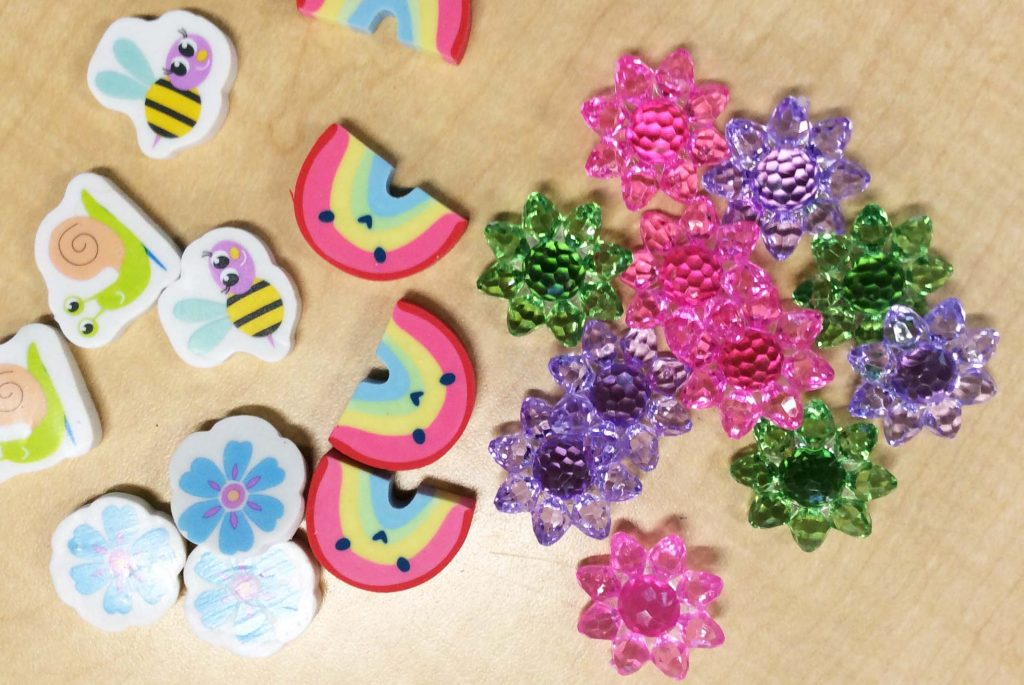 erasers and game markers