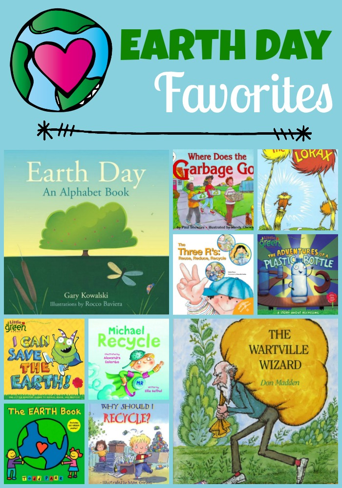 earth day favorite book collage