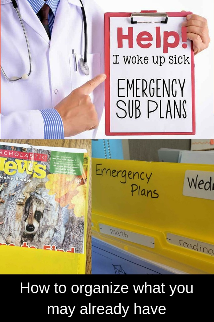 organizing for emergency sub plans