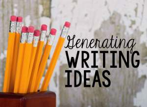 Generating writing ideas can be hard for kids. Writing lists can help spark ideas.