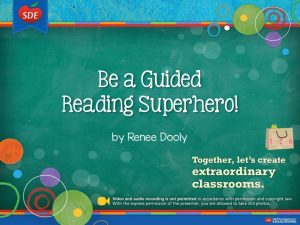SDE Guided Reading