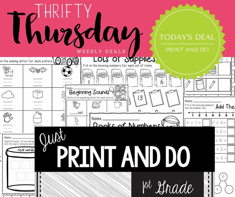 Thrifty Thursday- 7_7 puzzles