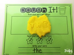 Use letter stamps in play-doh to practice your sight words..