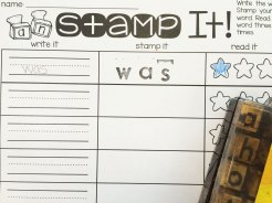 stamp your sight words