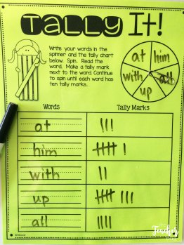 tally and spin your sight words