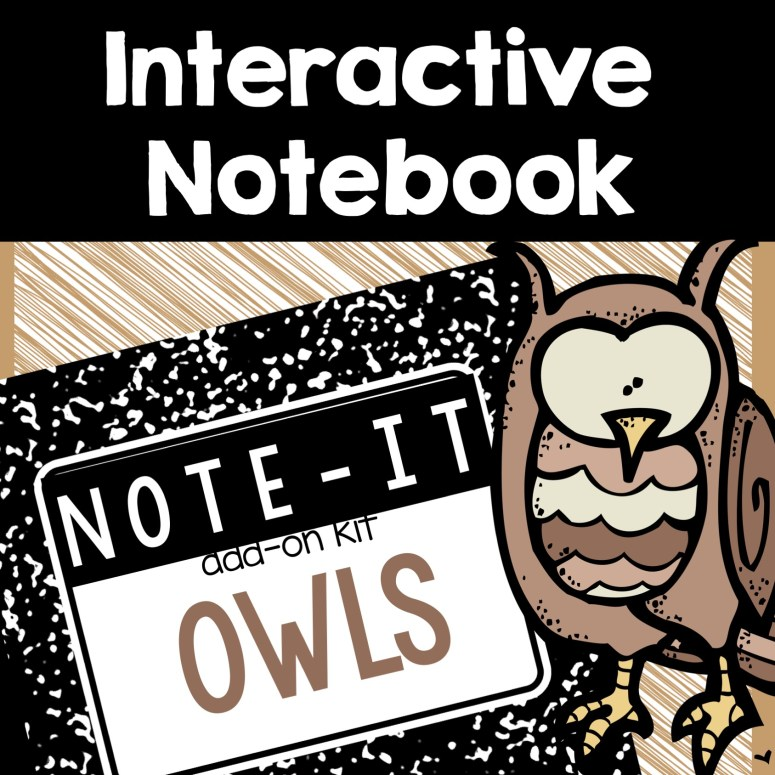 Owl interactive notebook