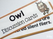 owl discusion cards: great for writing or talking points