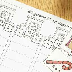 gingerbread math- fact families