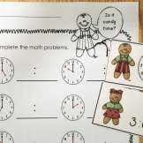 gingerbread math- telling time