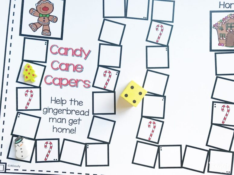 candy cane capers game board