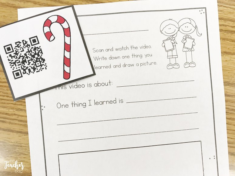 How candy canes are made QR code freebie
