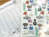 American Symbols math- find, tally and graph