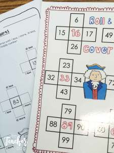 American Symbols math- roll and cover