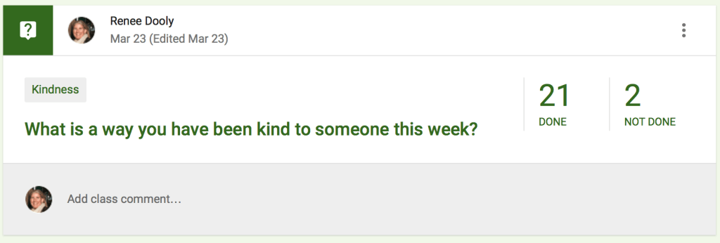 Google Classroom question