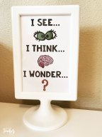see think wonder in a frame