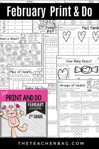 February NO PREP printables