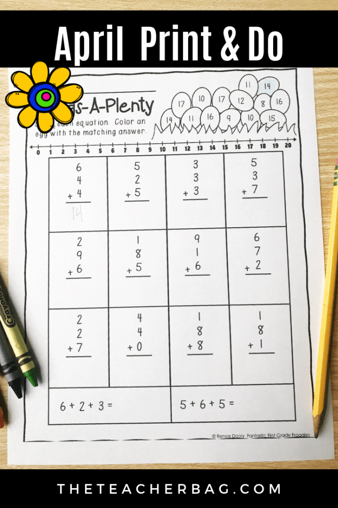 April No Prep worksheet