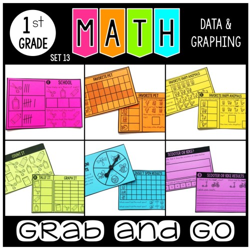 grab and go math data and graphing