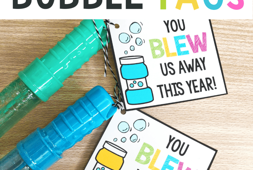 end of the year bubble tags