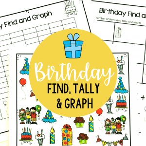 birthday find tally and graph activity