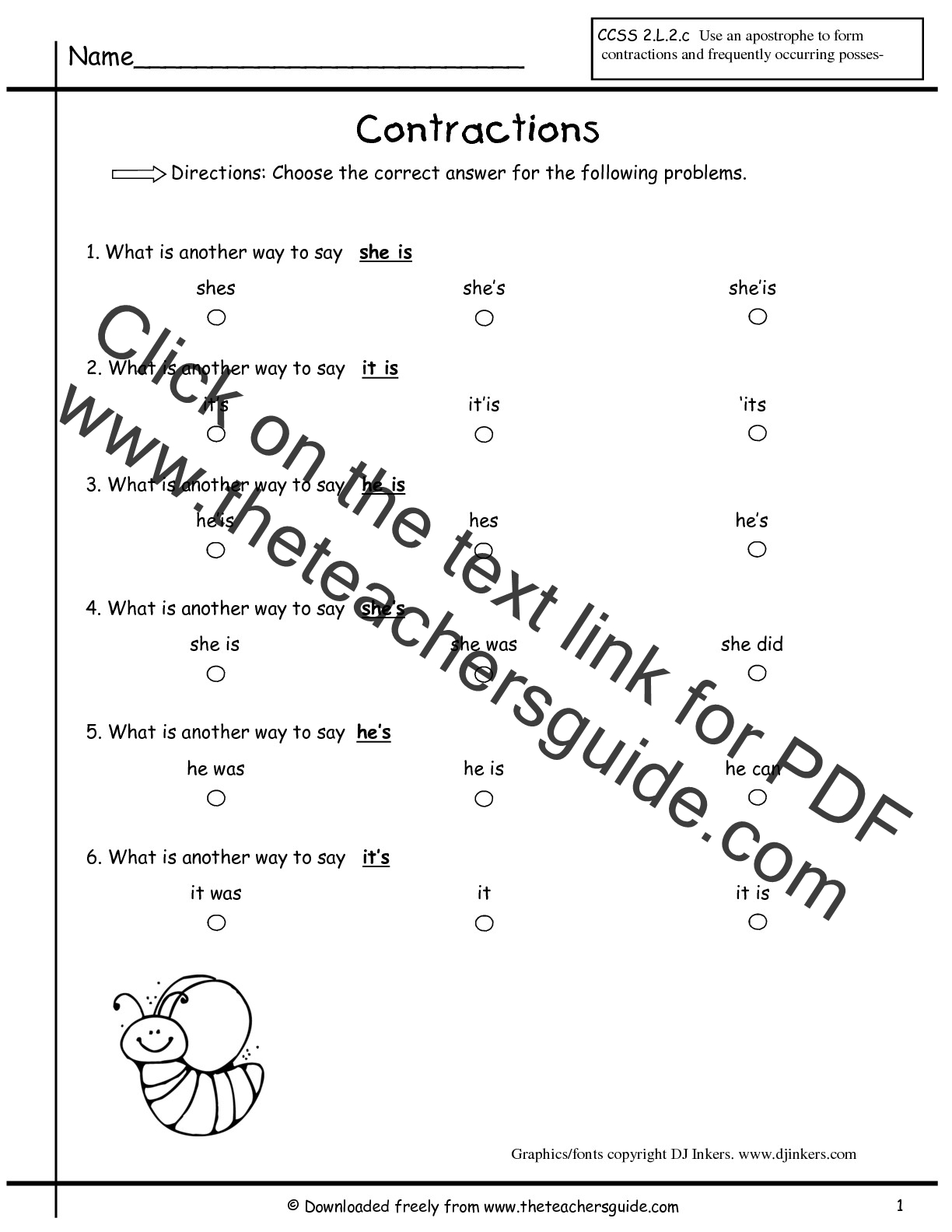 Close Reading Worksheet 2nd Grade