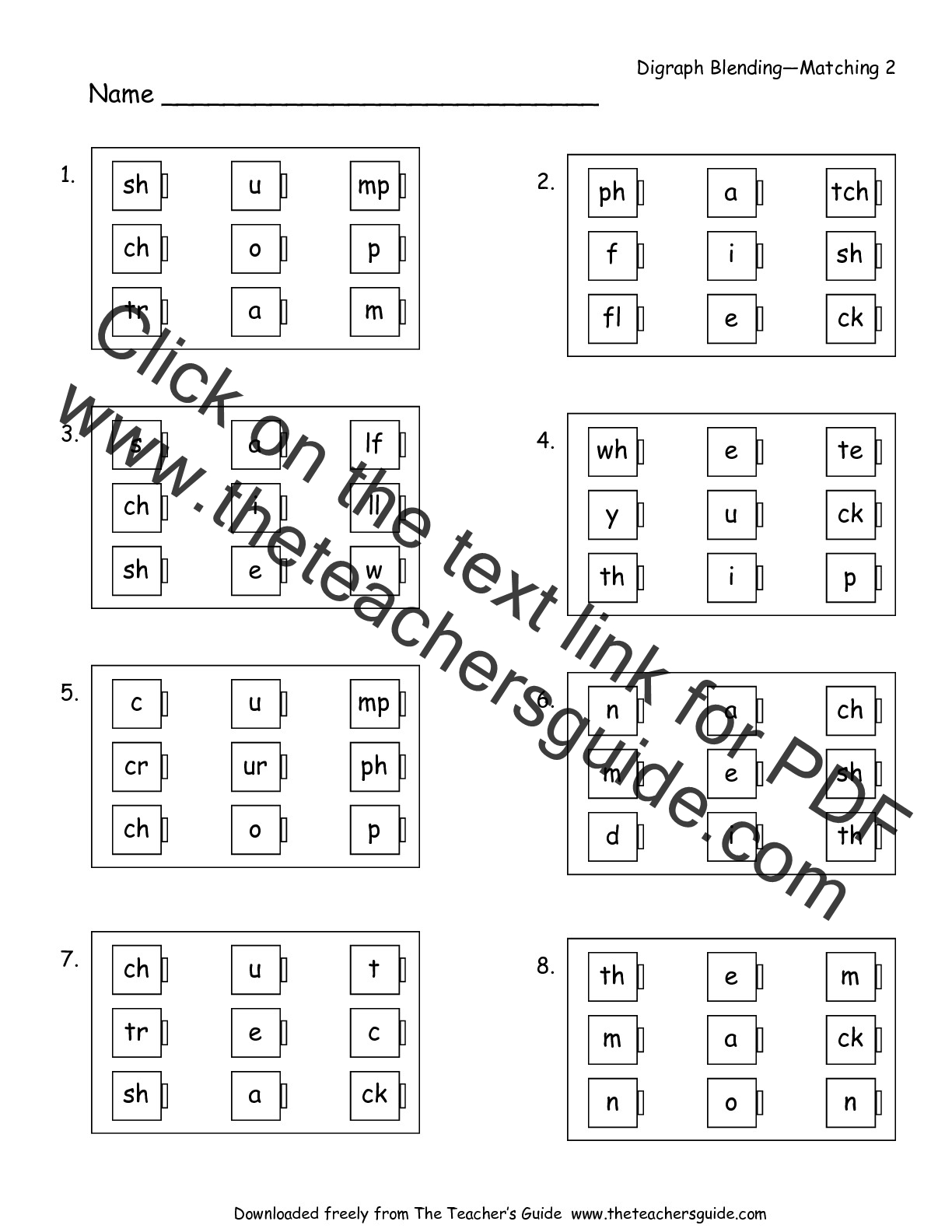 Free Phonics Worksheets Vowel Digraphs