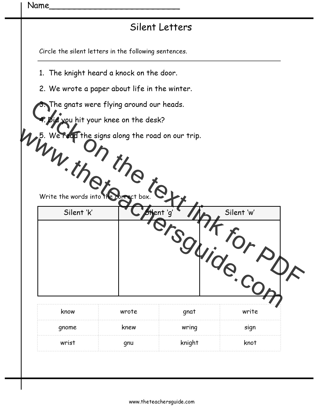 Long Worksheets Sentences And Phonics T