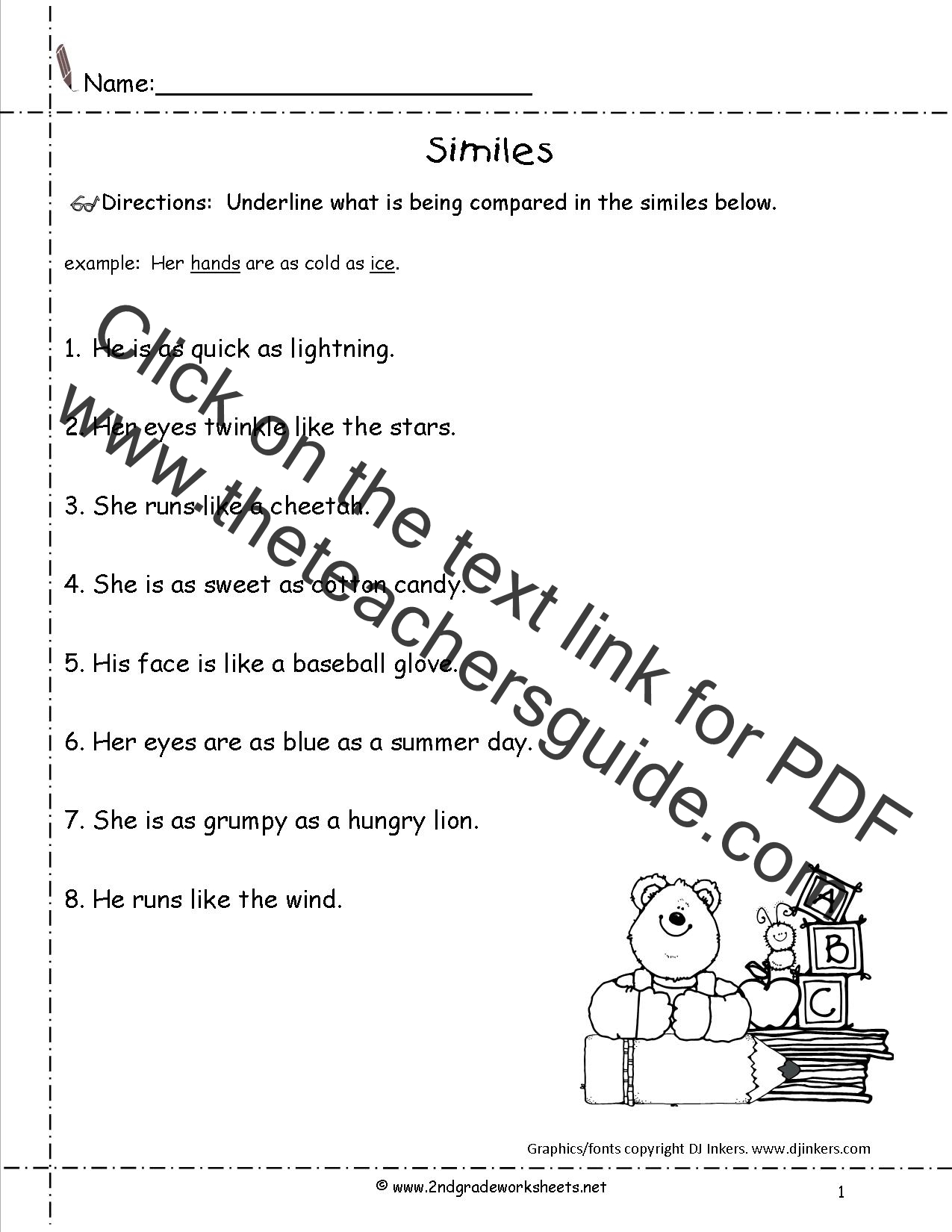 Similes For Eyes Simile Examples For Kids 01 17