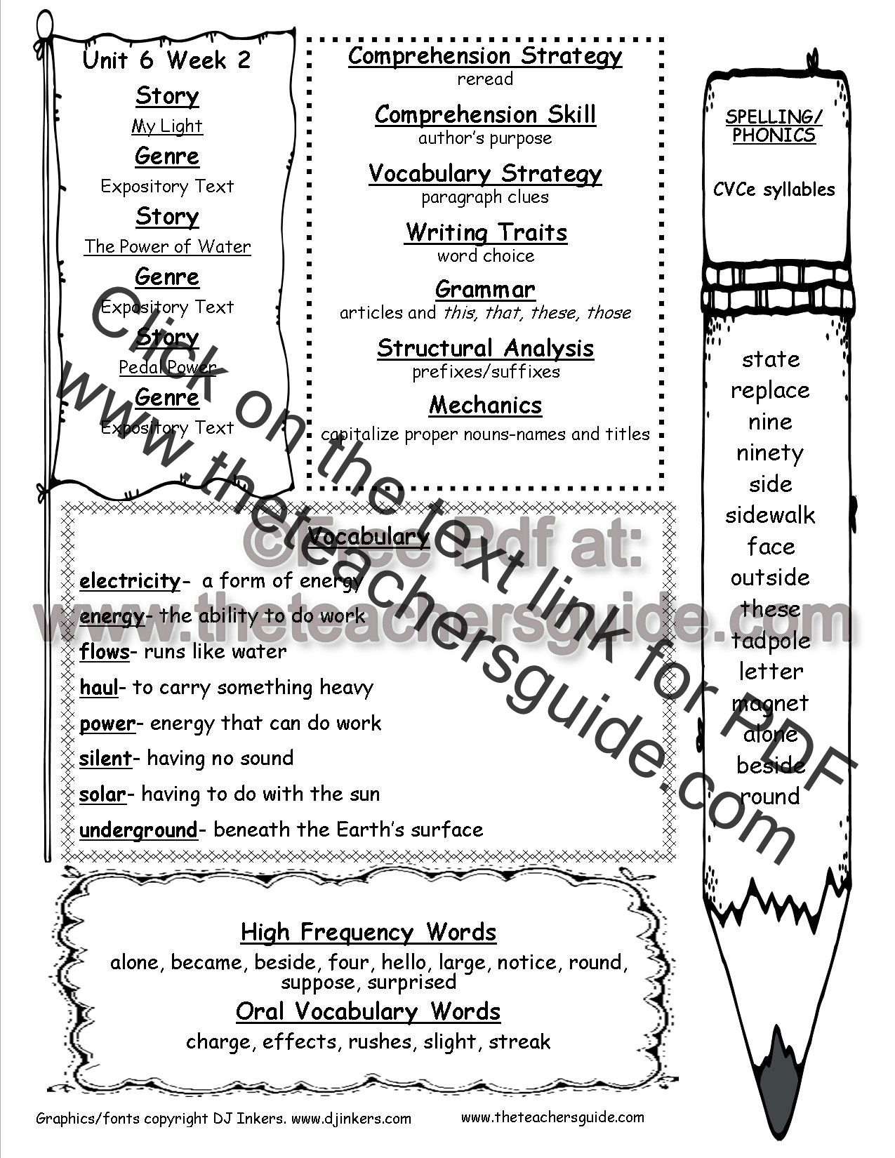 Syllables Worksheet 2nd Grade