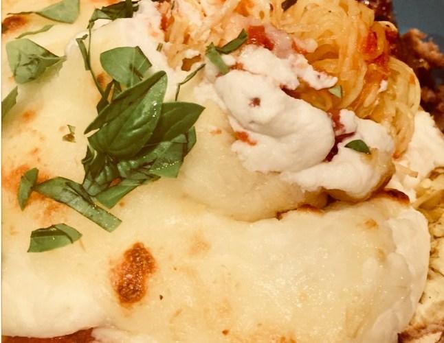 Easy & Cheesy Italian Style Baked Spaghetti Squash