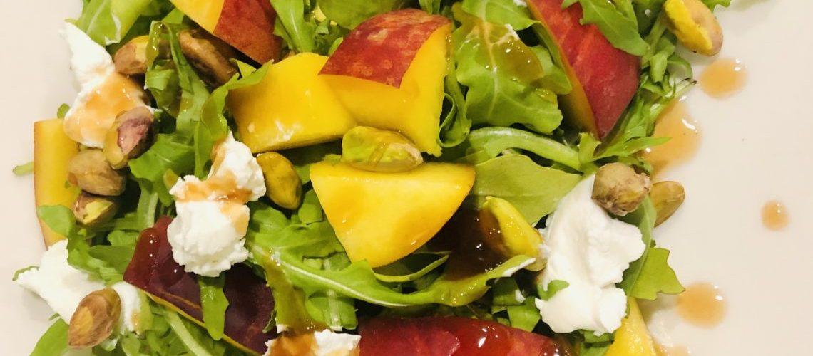 Peach and Pistachio Salad