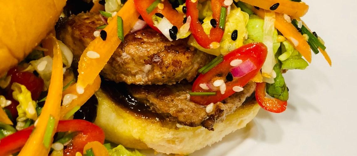 Chinese Five Spice Pork Burger