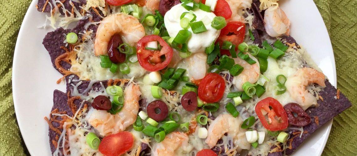 Italy Meets Mexico Shrimp Nachos