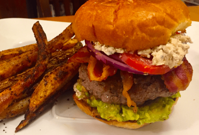 Blue Cheese Avocado Burger
