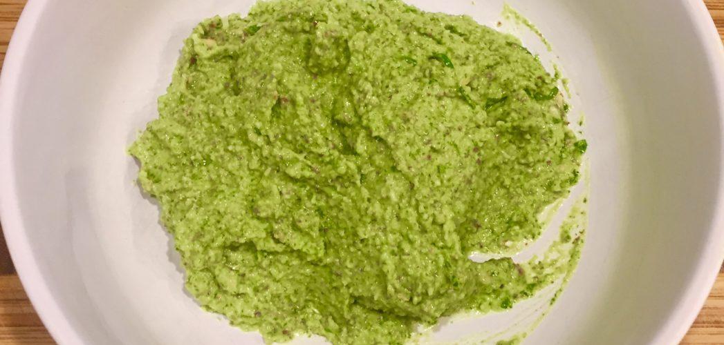 Chive and Arugula Pesto