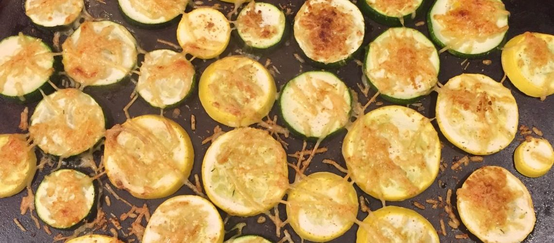 Baked Parmesan Zucchini Slices