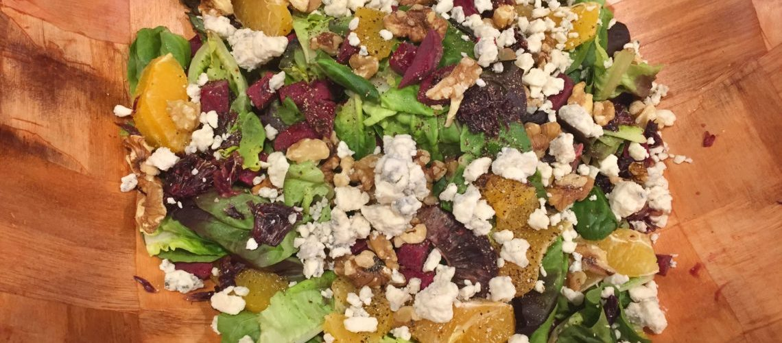 Fresh Beet Salad with Oranges and Gorgonzola