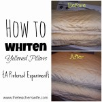How to Whiten Yellowed Pillows {a Pinterest Experiment}