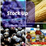 Summer Stock Up Items