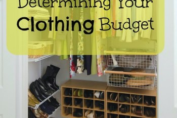 Determining Your Clothing Budget