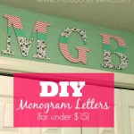 DIY Monogram Letters {for under $15}