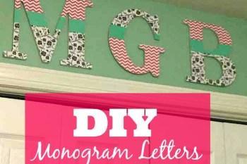 DIY Monogram Letters {for under $15}