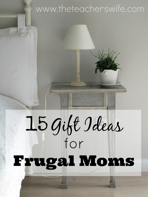 I've rounded up 15 gift ideas for frugal moms in your life!  They are practical and help make her frugal living journey a little easier.