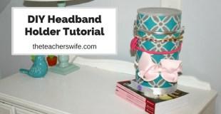 DIY Headband Holder Tutorial