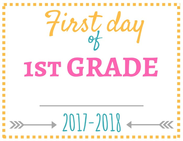 These first day of school signs are a cute way to capture a photo for the scrapbook. Print these out and start the tradition in your home!