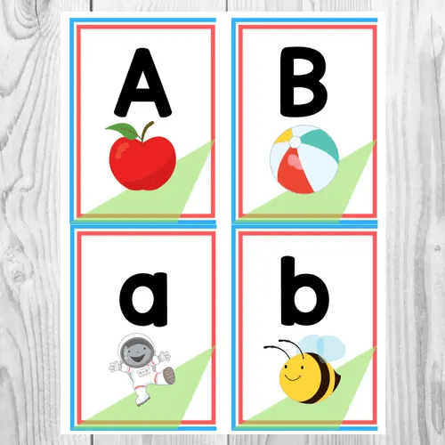 graphic about Free Printable Abc Flashcards called Alphabet Flashcards Totally free Printable - The Education Aunt