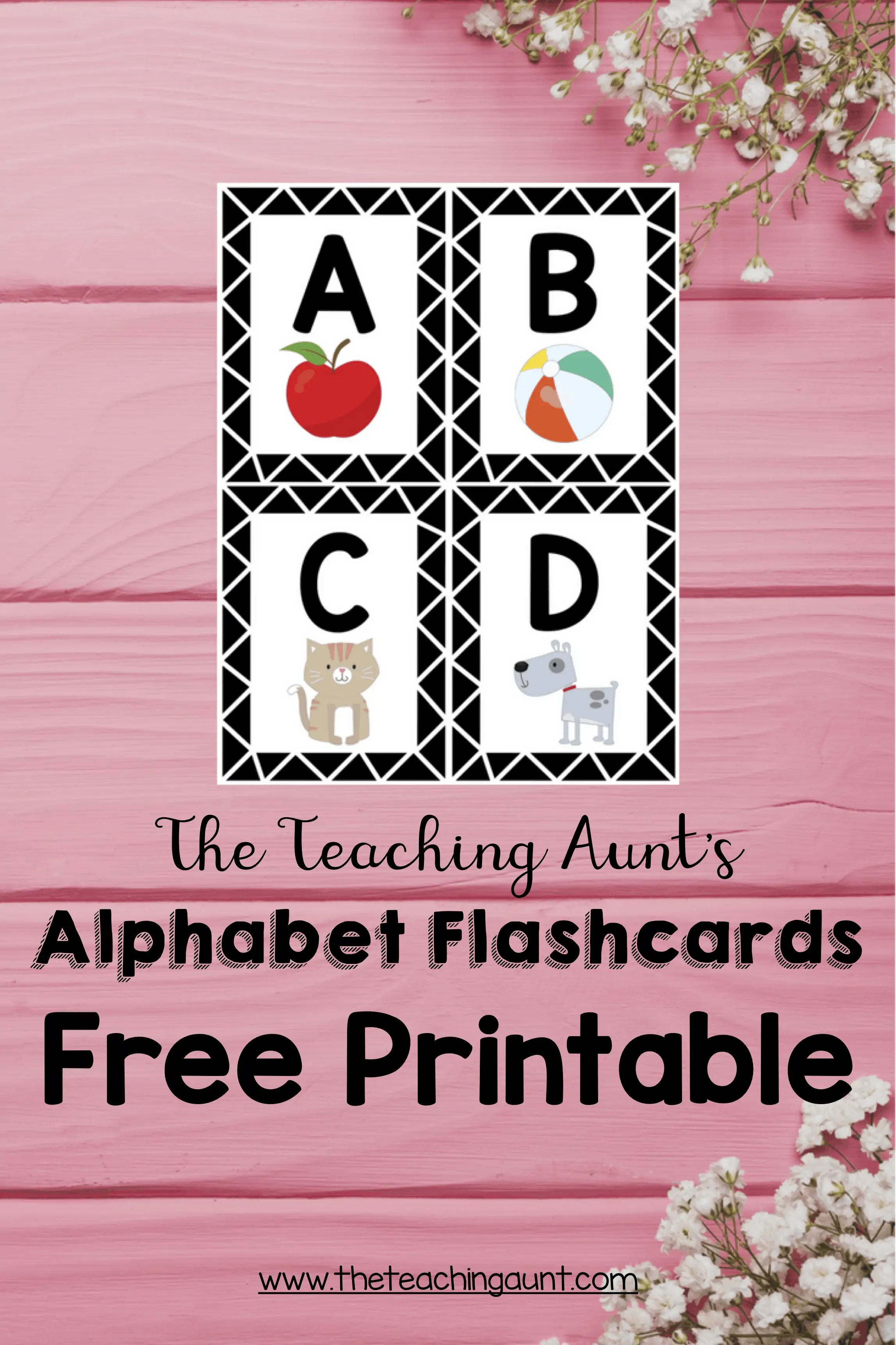 picture relating to Free Printable Abc Flashcards named Alphabet Flashcards Free of charge Printable - The Coaching Aunt